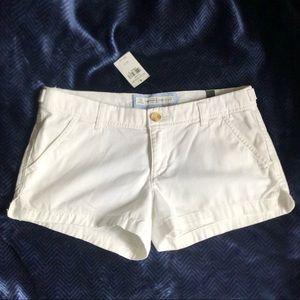 Abercrombie White Chino Shorts